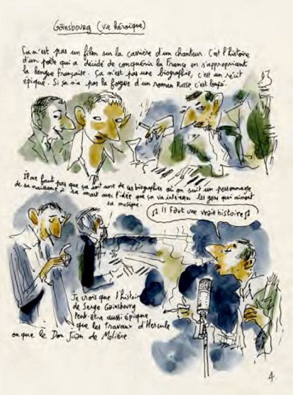 Joann Sfar's sketches for Gainsbourg