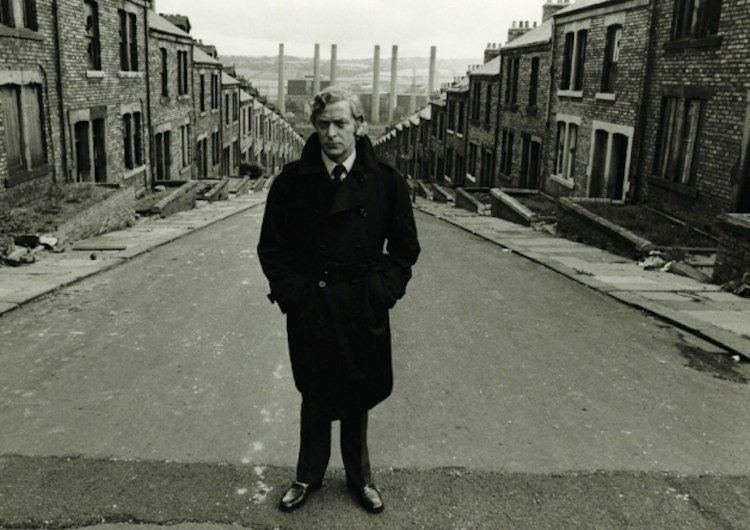 Michael Caine on location of Get Carter, Mike Hodges's original adaptation of Ted Lewis's 1970 crime novel Jack's Return Home