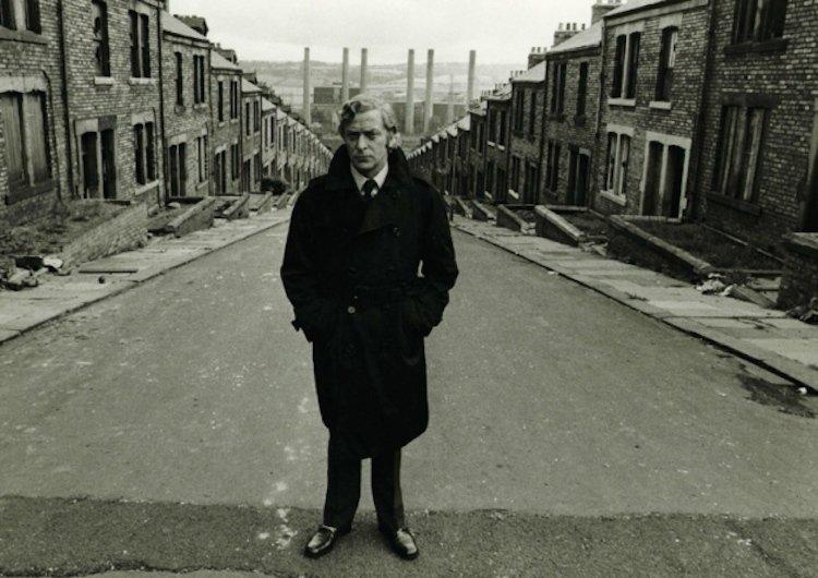 Michael Caine on location of Get Carter, Mike Hodges's original adaptation of Ted Lewis's 1970 crime novel Jack's Return Home