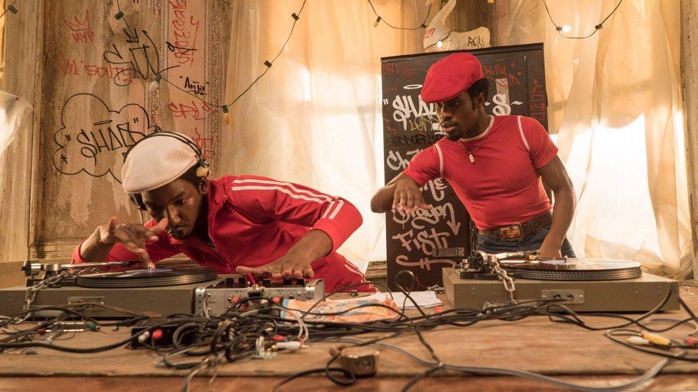 Mamoudou Athie as Grandmaster Flash and Shameik Moore as Shaolin Fantastic