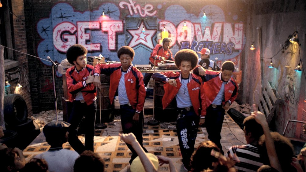 Justice Smith, Skylan Brooks, Shameik Moore, Jaden Smith and Tremaine Brown Jr. as The Get Down Brothers