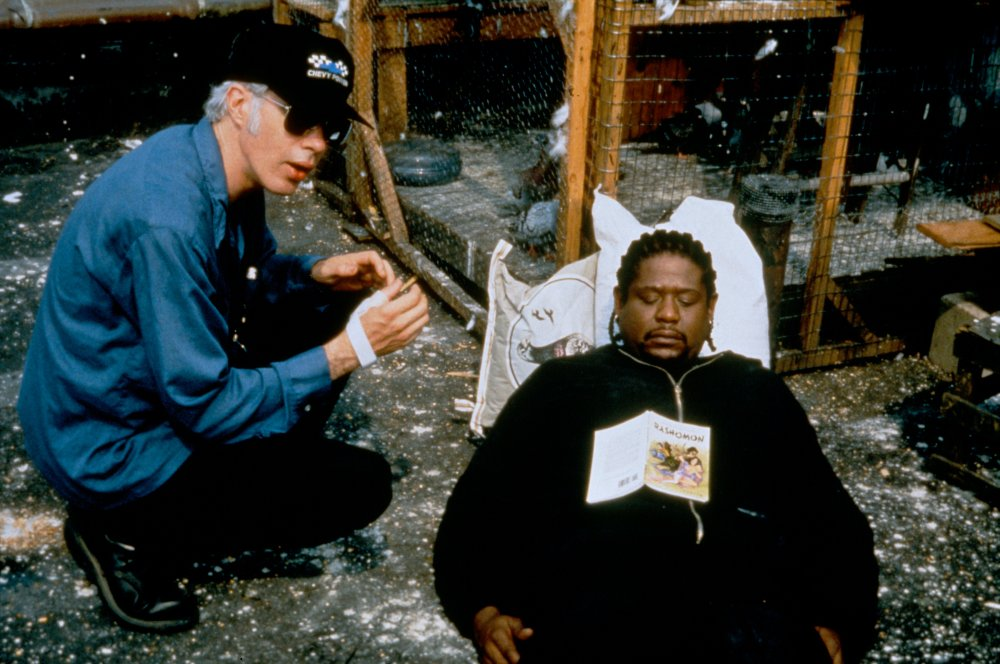 Jim Jarmusch and Forest Whitaker filming Ghost Dog: The Way of the Samurai (1999)