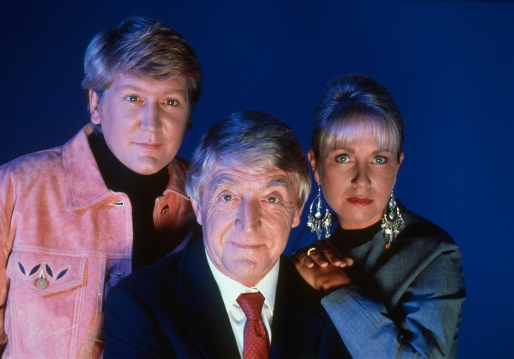 Mike Smith, Michael Parkinson and Sarah Greene in Ghostwatch (1992)