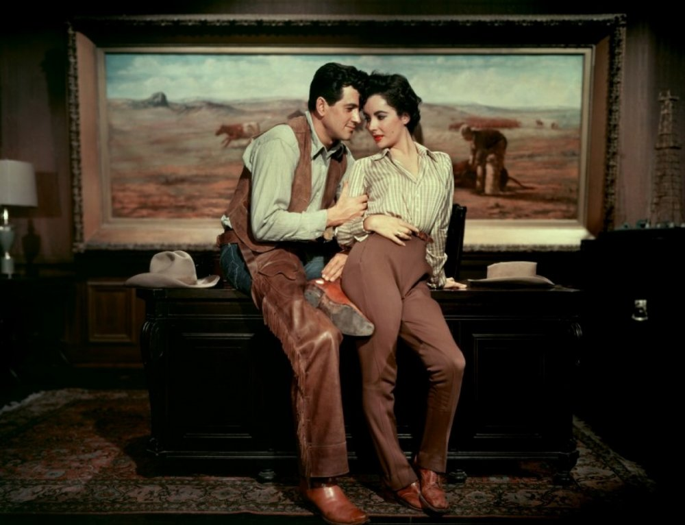 Rock Hudson and Elizabeth Taylor in Giant (1956)