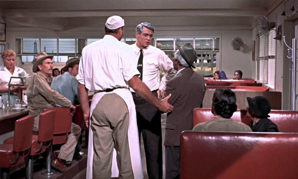 Rock Hudson in Sarge's Place diner in Giant