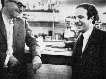 Jean-Luc Godard (left) and François Truffaut