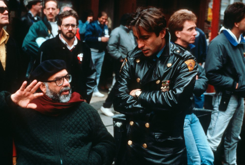 Francis Ford Coppola and Andy Garcia during production of The Godfather Part III (1990)