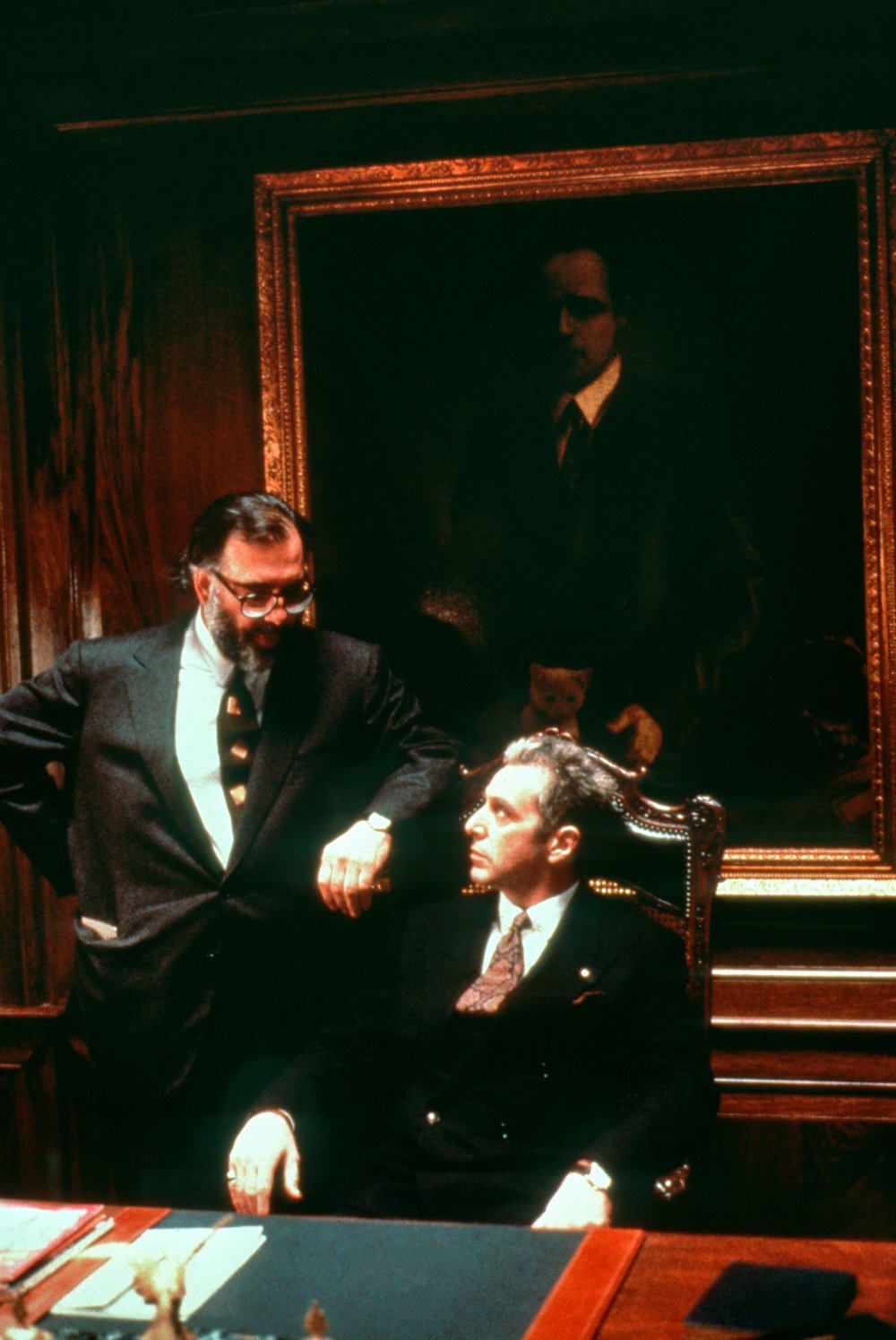 In a position of power: Coppola with Al Pacino as the ageing Michael Corleone