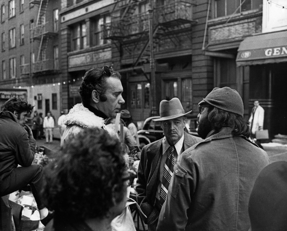 Francis Ford Coppola (right) directing Marlon Brando on The Godfather (1972)