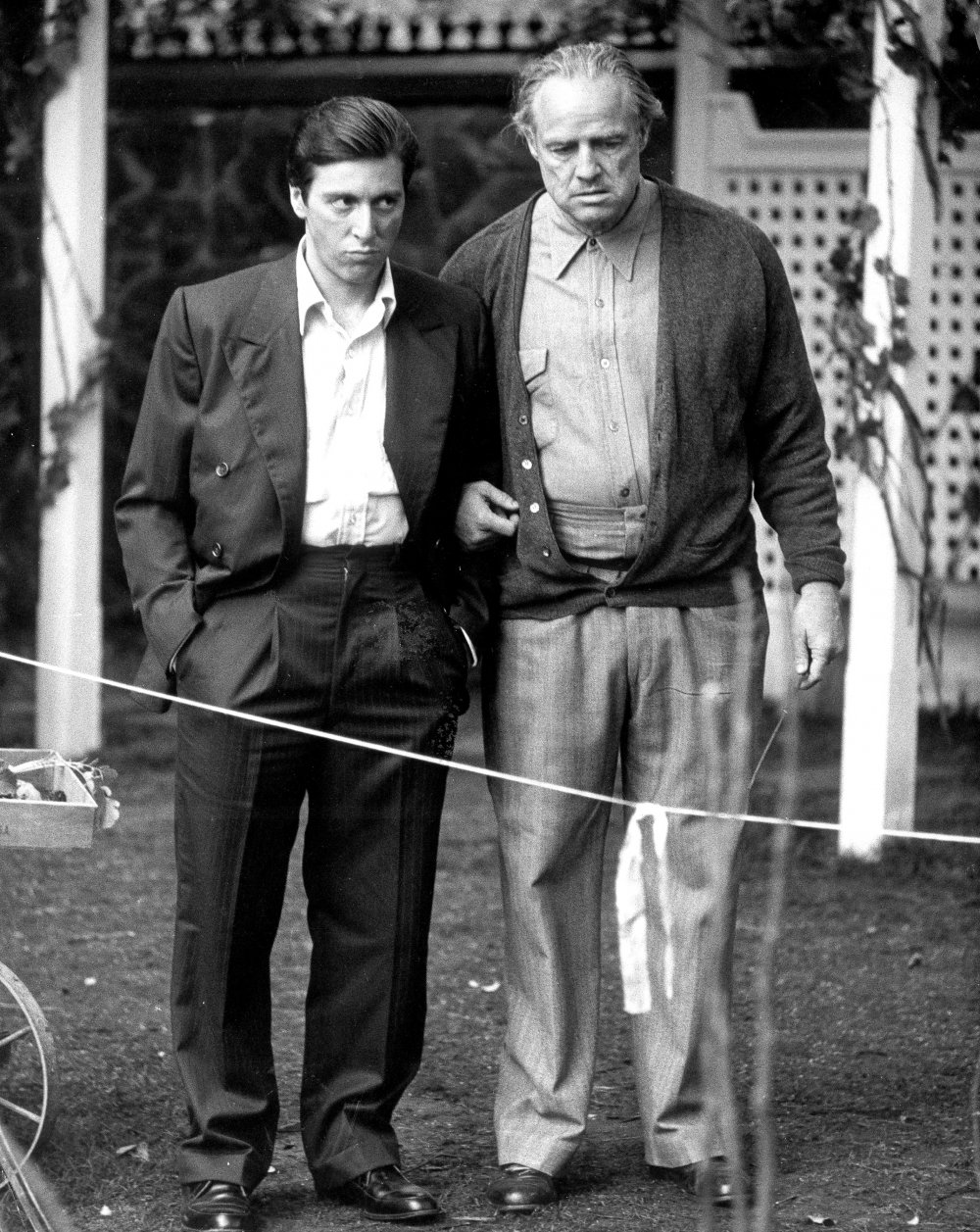 Pacino and Brando on location