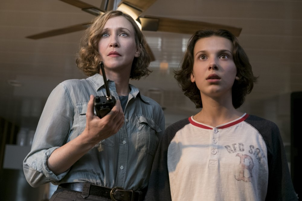 Vera Farmiga as Dr Emma Russell and Millie Bobby Brown as Madison Russell