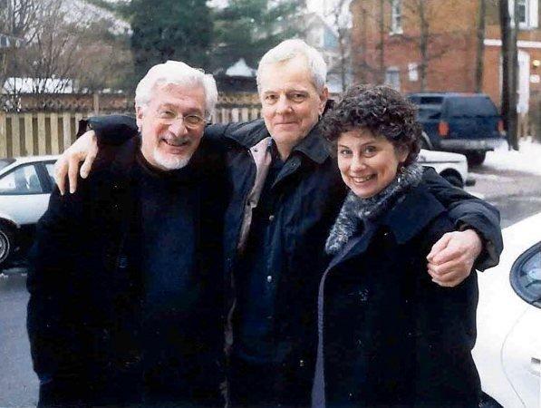 Joseph Gomez (left) with Peter Watkins and Andrea Gomez