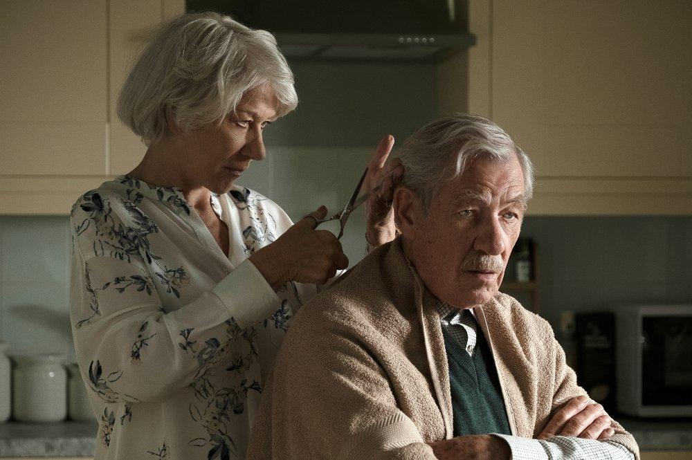 Helen Mirren as Betty McLeish and Ian McKellen as Roy Courtnay in The Good Liar