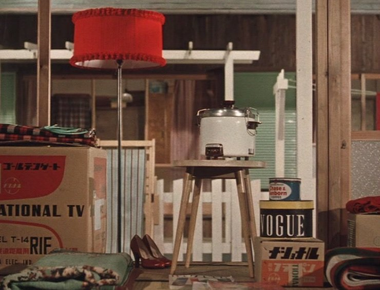 Ozu's pillow shots often comment on the modernisation (and often Americanisation) of Japanese life. Ozu's second colour film is reminiscent of I Was Born, But… but more overtly comic, centred around its young boys' determination to get a TV set…