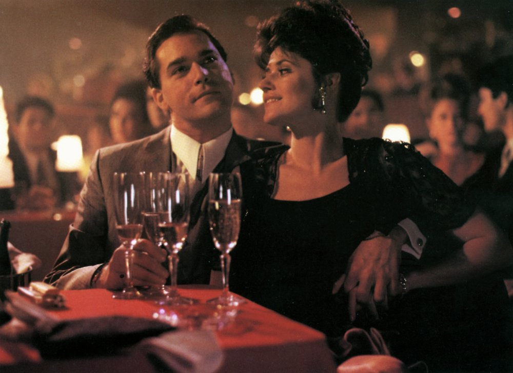 Ray Liotta and Lorraine Bracco as Henry and Karen in Goodfellas (1990)