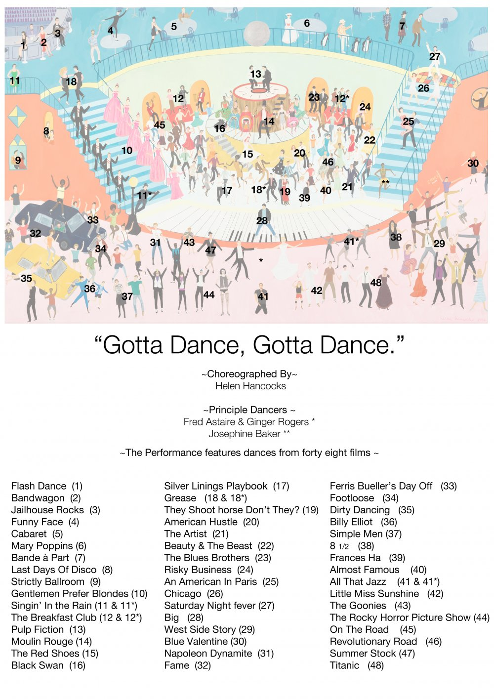 Gotta Dance season illustration key