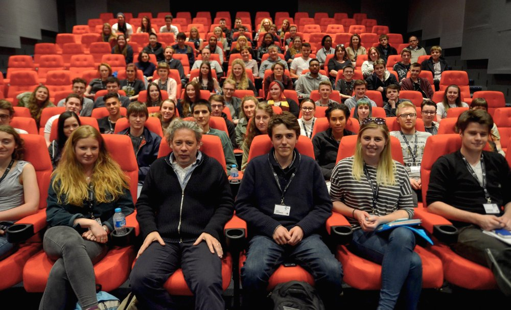 Graduates of the BFI Film Academy 2016 with Dexter Fletcher/Alex Garland