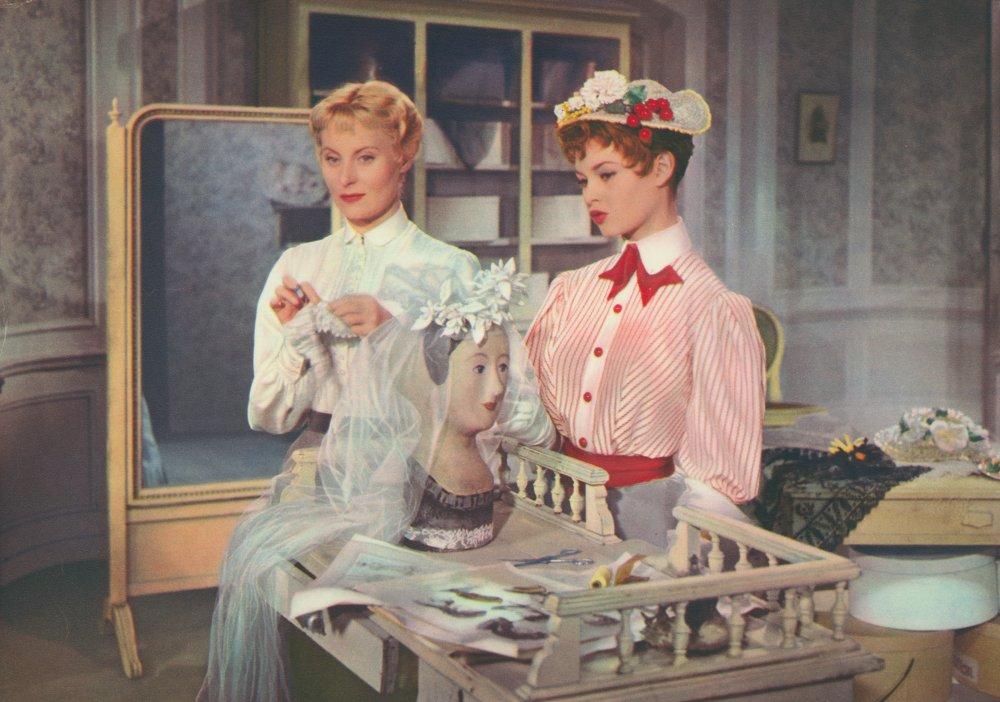 Michèle Morgan with Brigitte Bardot in Les Grandes Manoeuvres (1955)