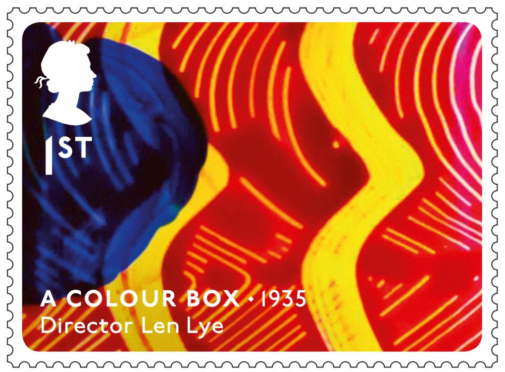 Royal Mail Great British Film stamp: A Colour Box