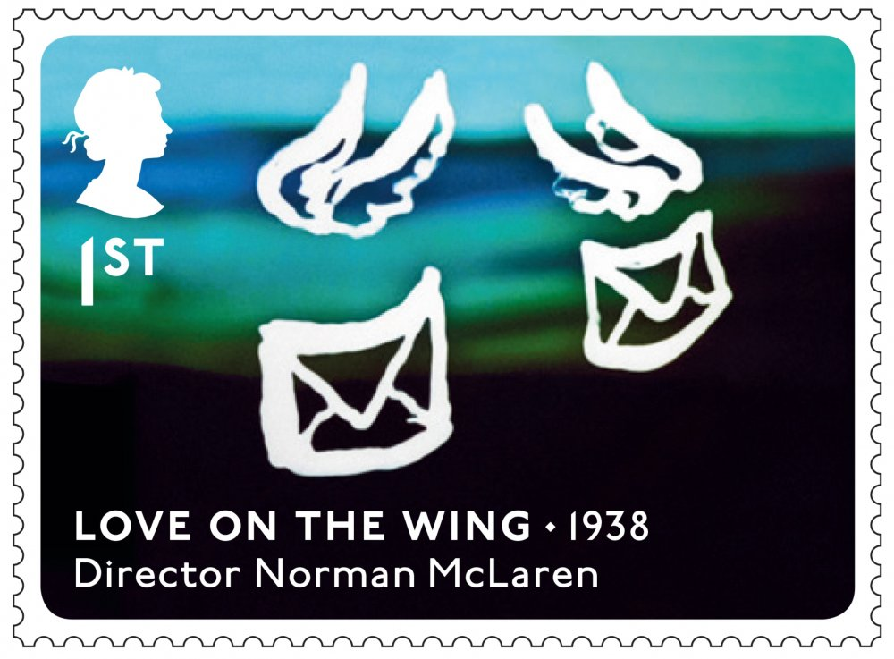 Royal Mail Great British Film stamp: Love on the Wing
