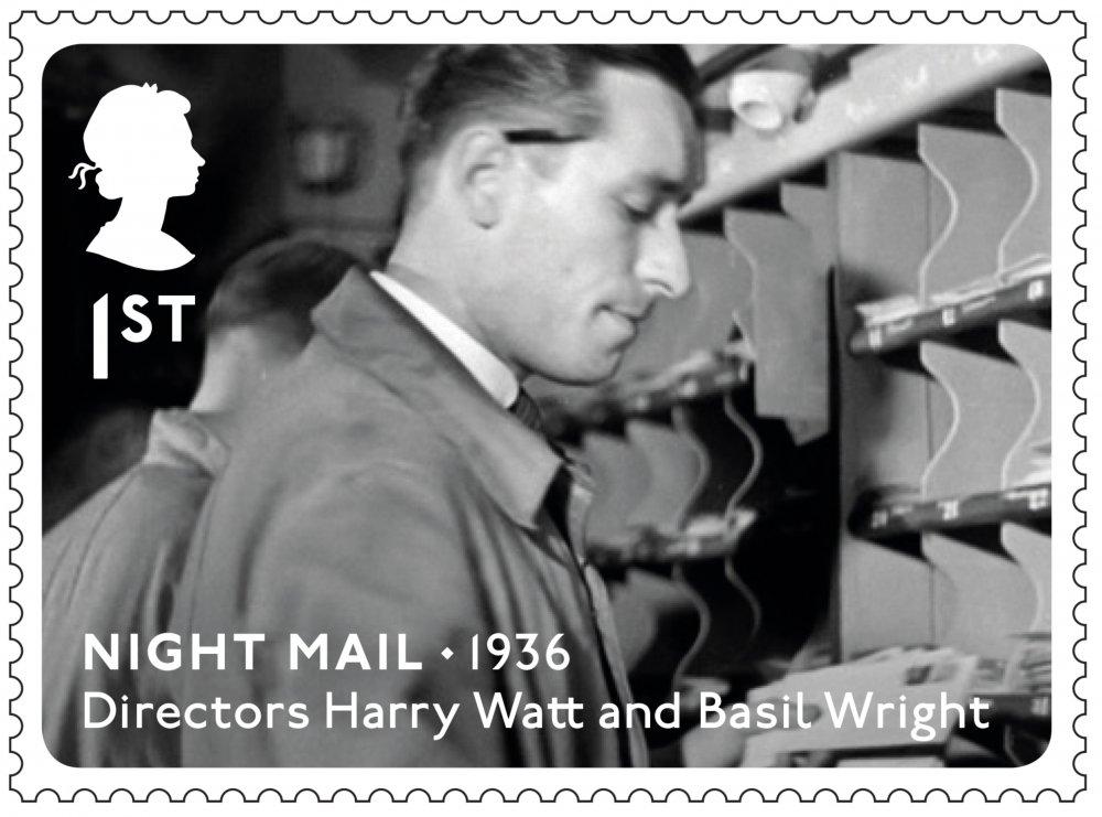 Royal Mail Great British Film stamp: Night Mail