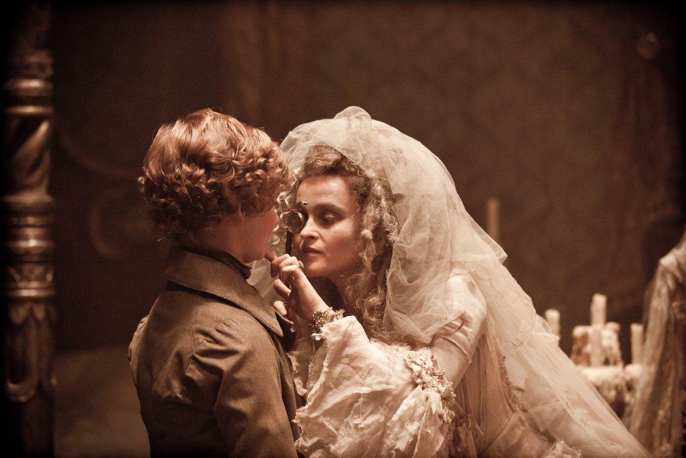 Miss Havisham (Helena Bonham Carter) with young Pip (Toby Irvine)