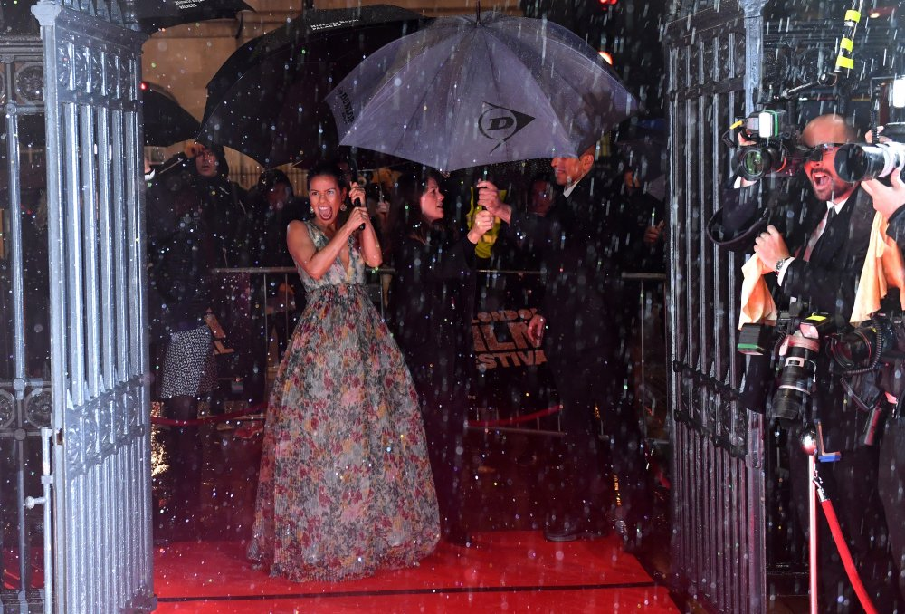 Gugu Mbatha-Raw attends the BFI London Film Festival awards at Banqueting House