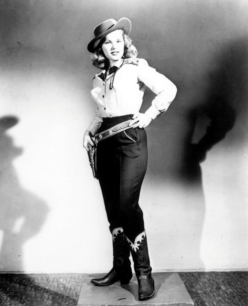 American outlaw: Peggy Cummins in a publicity shot for Gun Crazy (1949)
