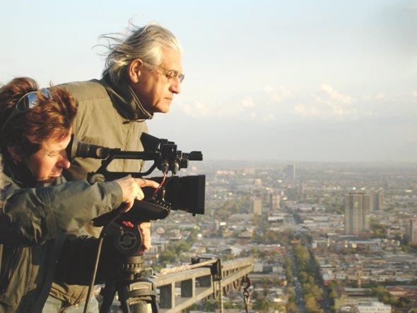 Patricio Guzmán shooting Nostalgia for the Light