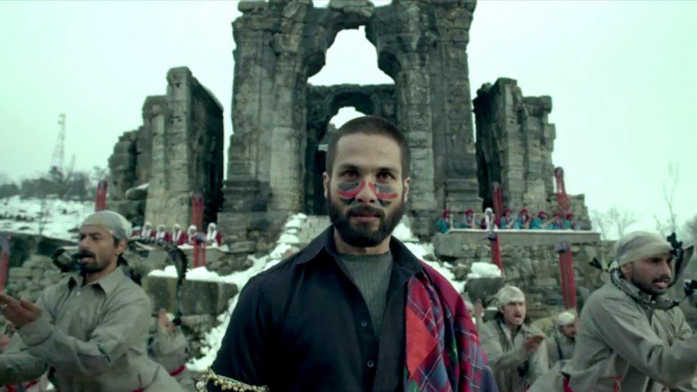 Shahid Kapoor as the title character of Bhardwaj's Hamlet adaptation Haider (2014)