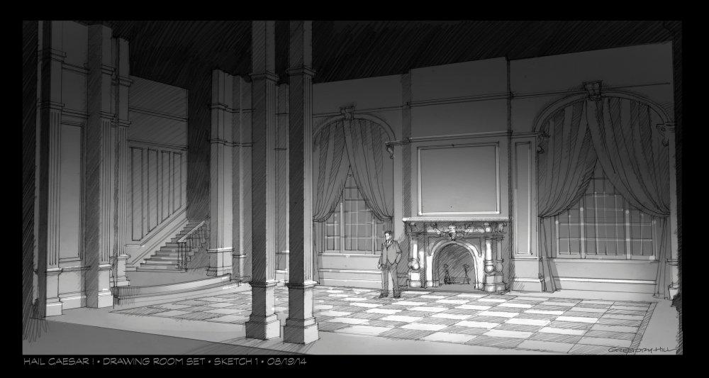 Hail, Caesar! (2016) production design