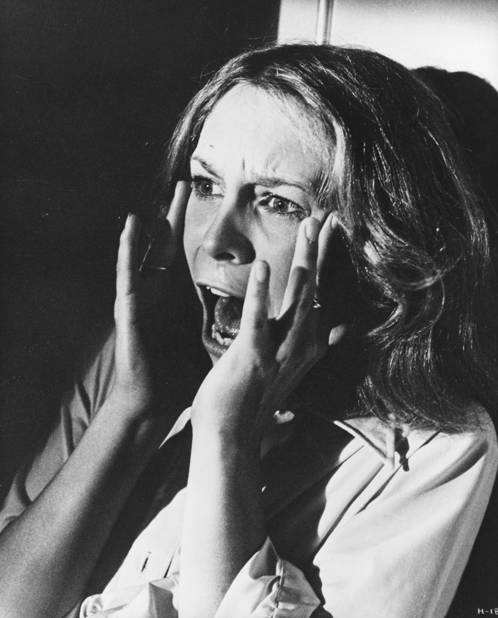 Jamie Lee Curtis as Laurie Strode, the 'final girl' in Halloween (1978)
