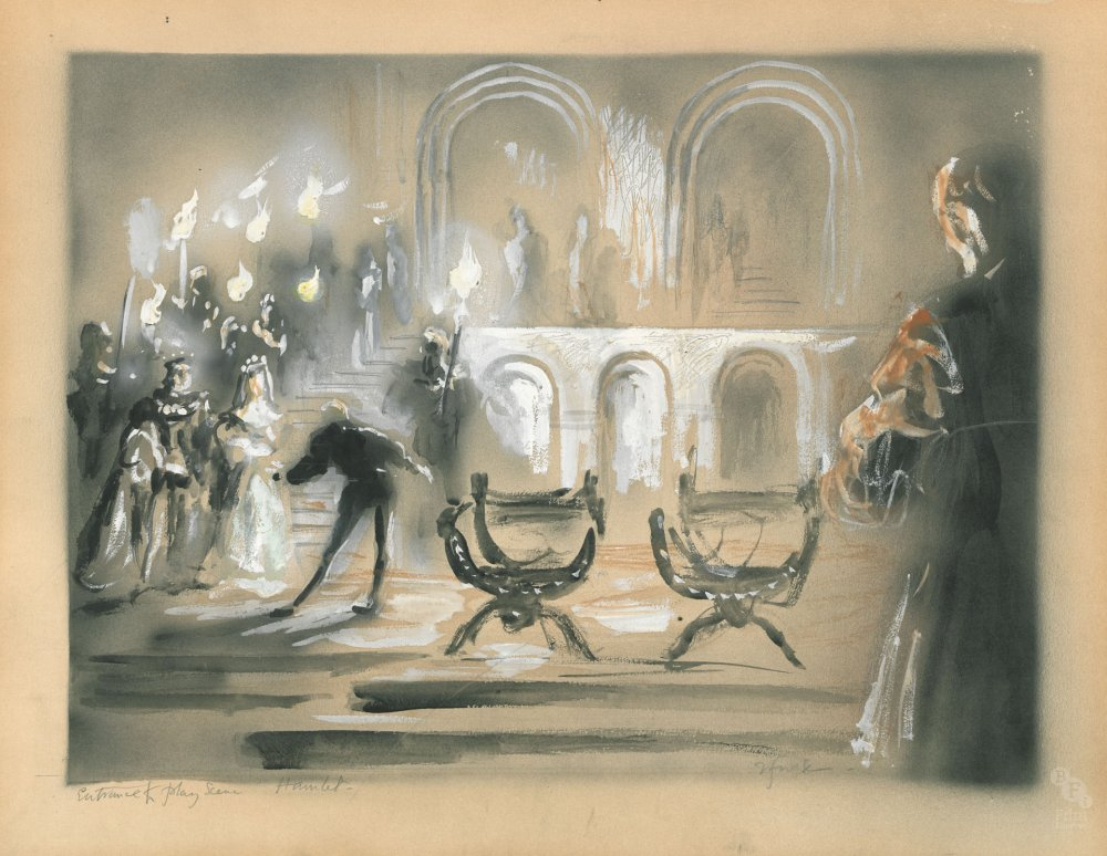 Concept design for Hamlet (1948) by Roger Furse