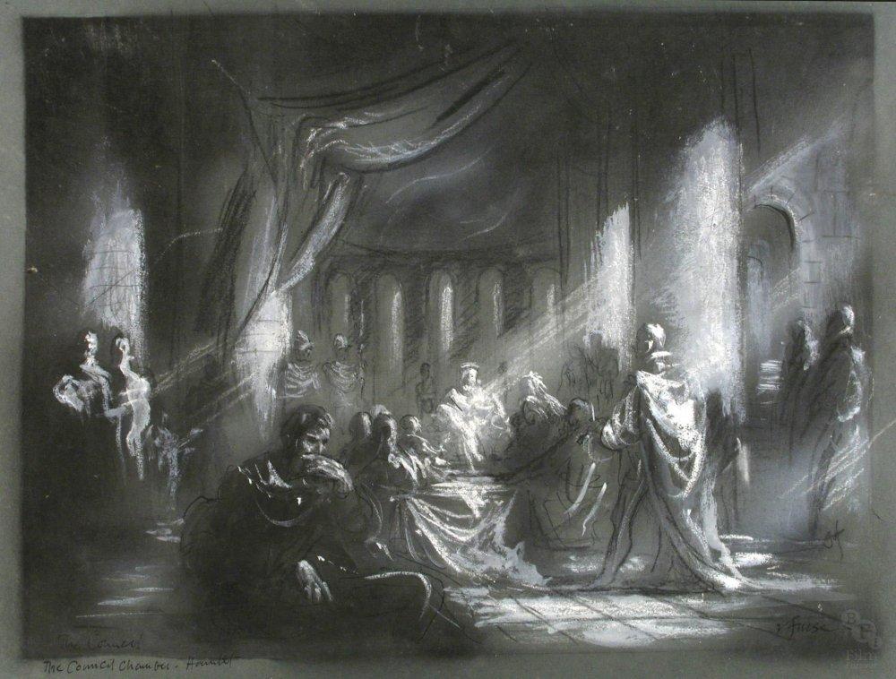 Concept design for Hamlet (1948) by Roger Furse