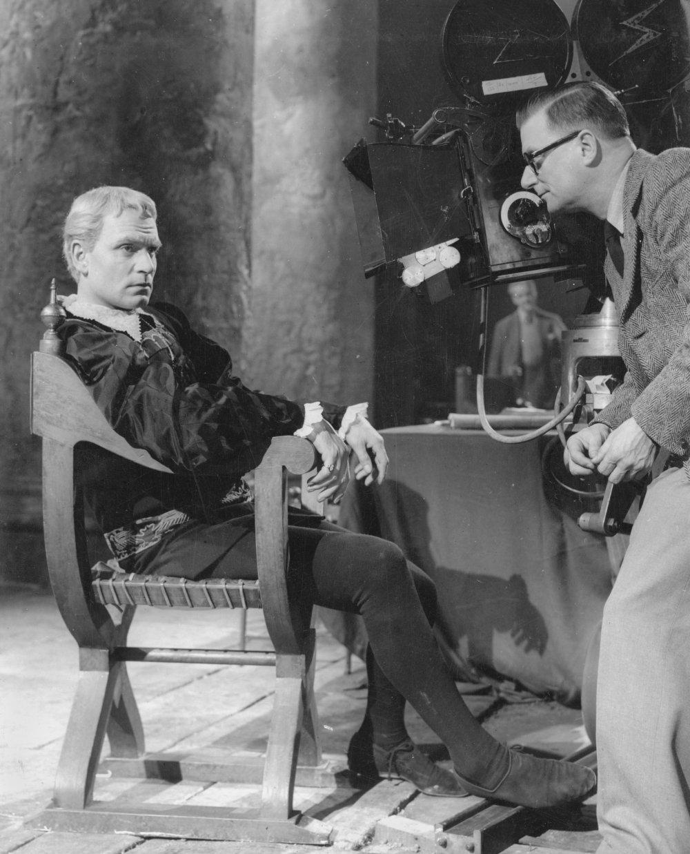 Olivier with cameraman Desmond Dickinson