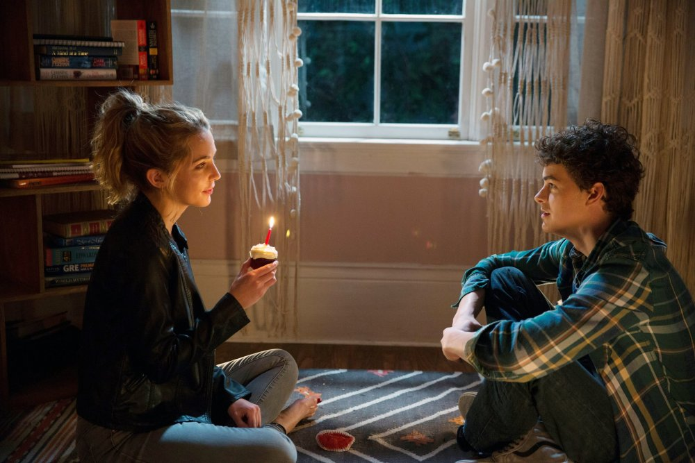 Rothe with Israel Broussard as Tree's serial bedmate Carter Davis