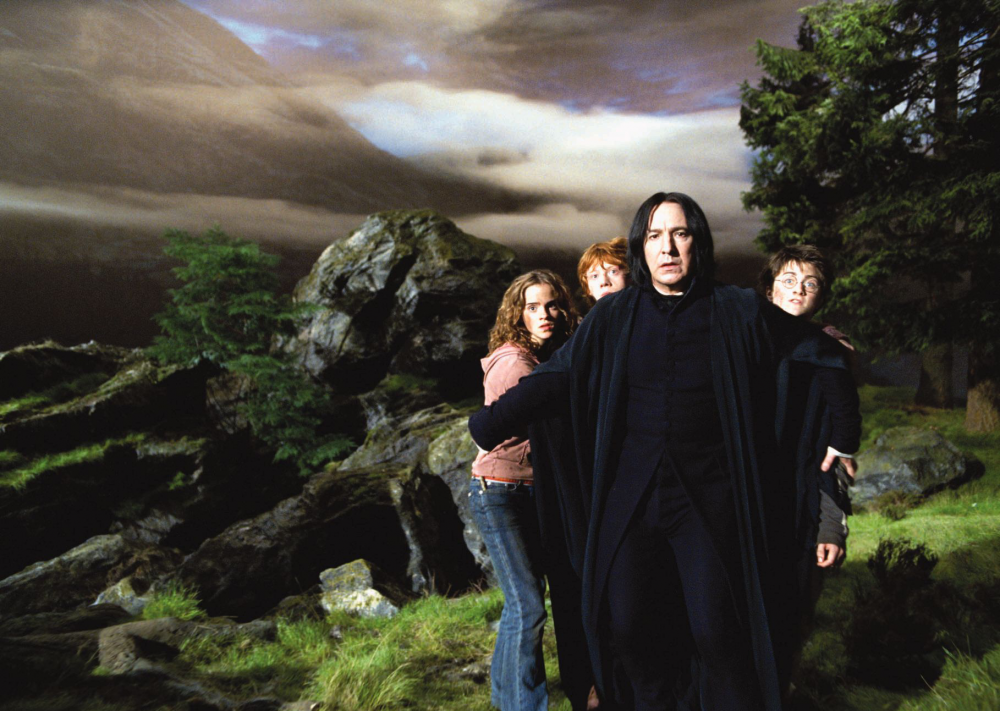 Alan Rickman in the fourth of eight outings as Professor Snape in Harry Potter and the Prisoner of Azkaban (2004)