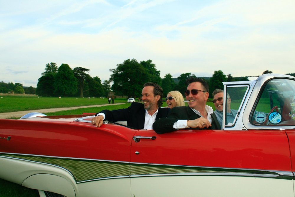Richard Hawley arriving at Chatsworth House for the premiere of All is Love (2014)