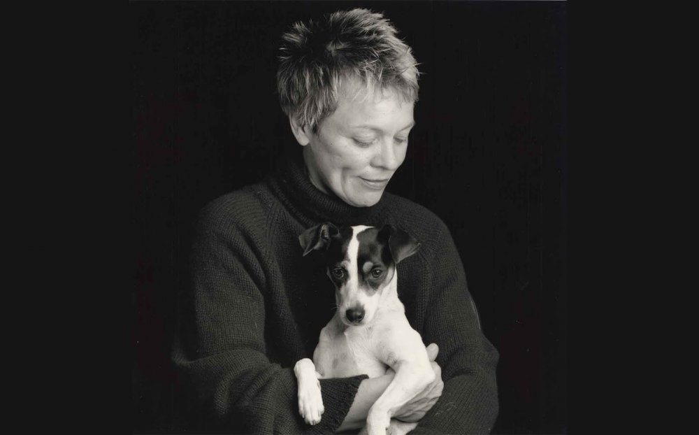 Laurie Anderson and Lolabelle in the former's new film Heart of a Dog