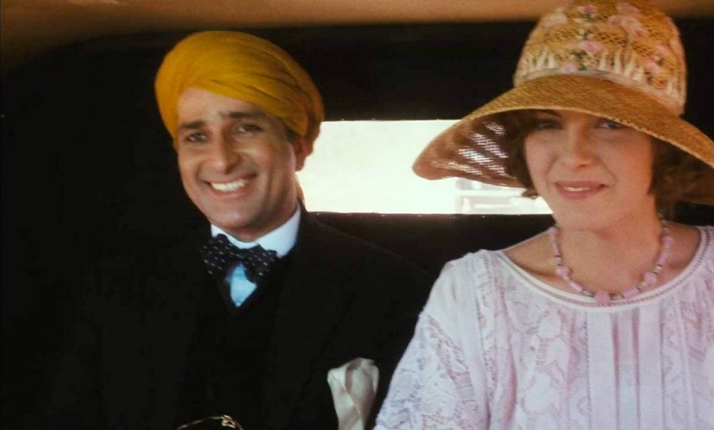 Shashi Kapoor as The Nawab with Greta Scacchi as Olivia Rivers in Heat and Dust