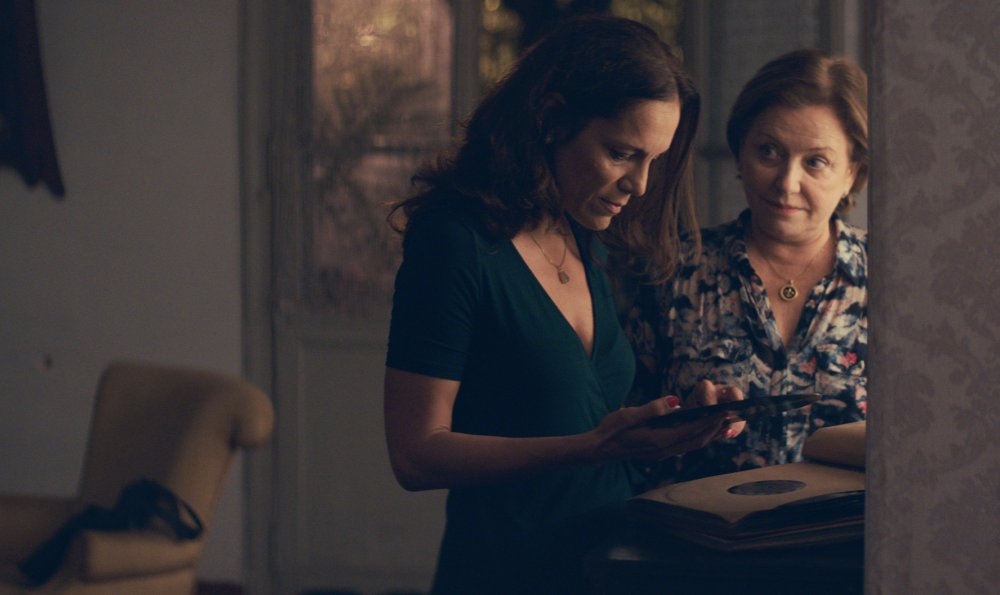 <span>Margarita Irún as </span>Chiqui and Ana Brun as Chela in The Heiresses