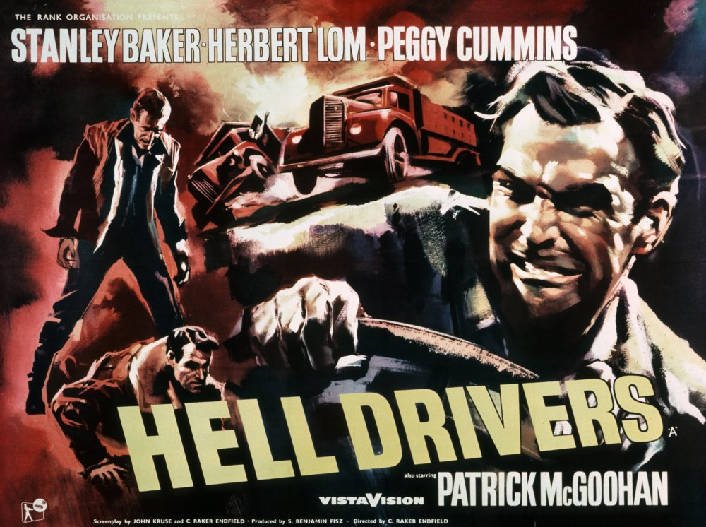 Hell Drivers (1957) poster