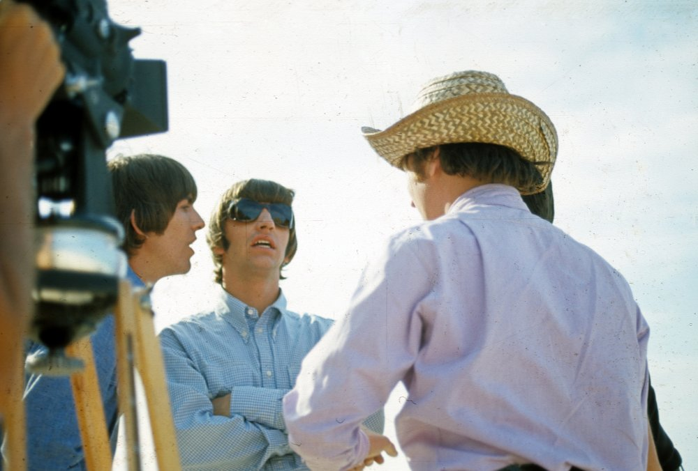George, Ringo and John. The Beatles left the Bahamas on 10 March, arriving back in London early the following day