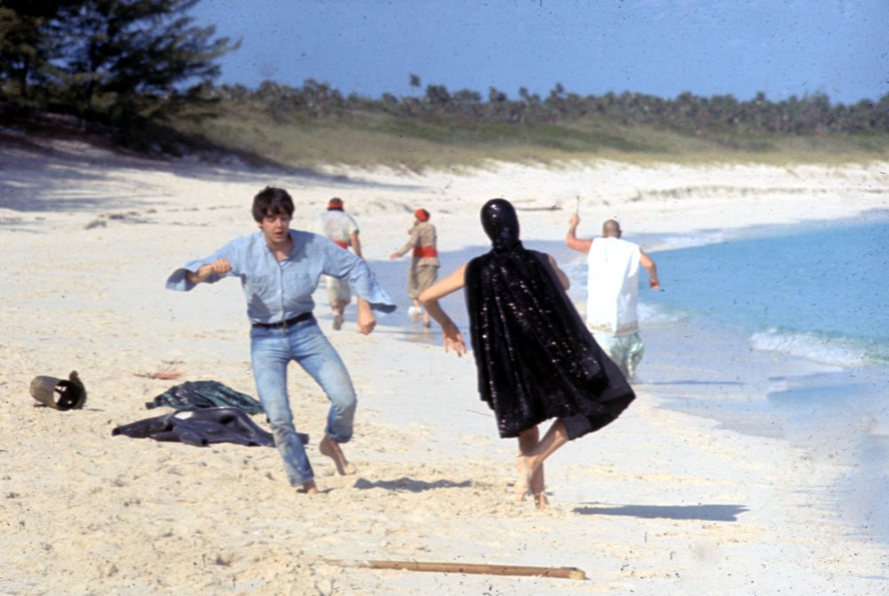 Much of the film's beach footage was shot on Cabbage Beach, on the northern side of Paradise Island