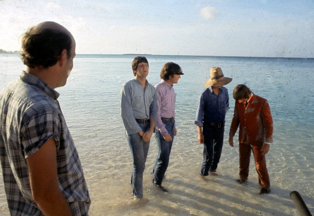 Director Richard Lester with the band