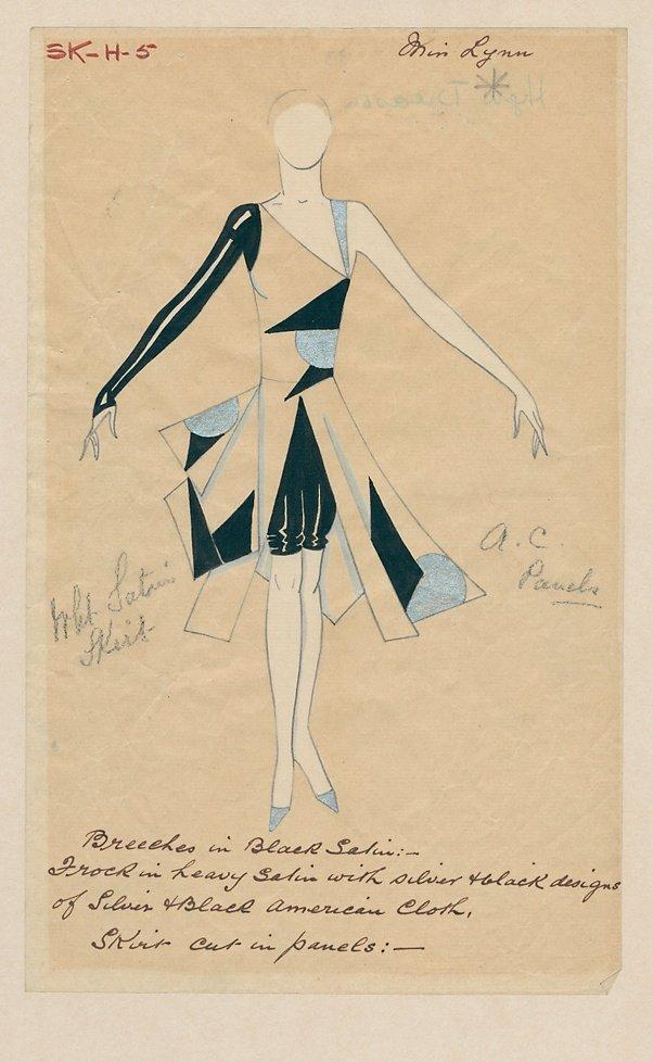 Costume design for High Treason (1929)