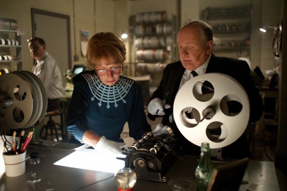 Helen Mirren and Anthony Hopkins as Alma Reville and Alfred Hitchcock in Hitchcock (2012)