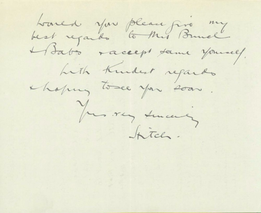 Hitchcock's letter to Adrian Brunel while working on The Pleasure Garden in 1925 (page 3)