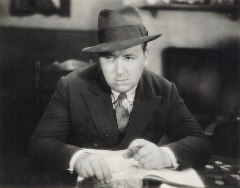 Alfred Hitchcock during the production of Blackmail (1929)