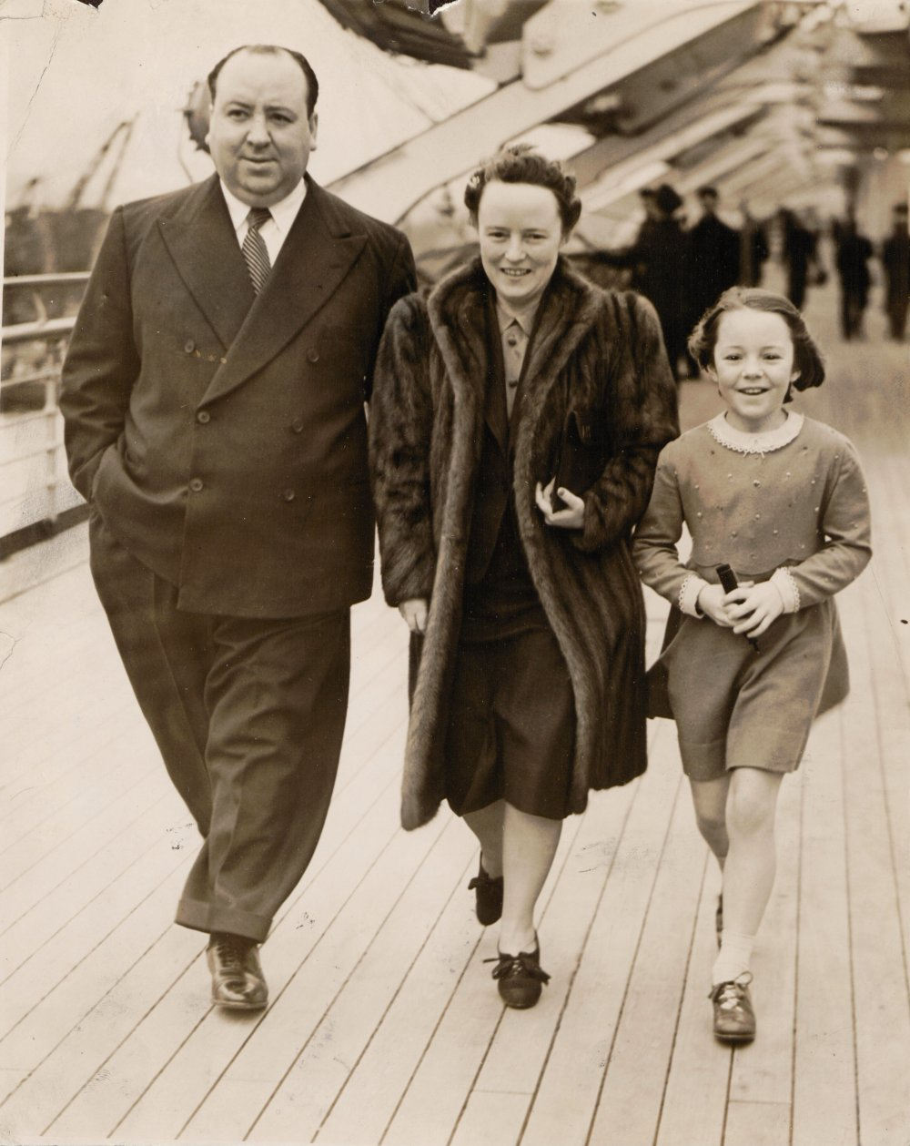 Alfred Hitchcock, Alma Reville and Patricia Hitchcock